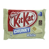 Kit Kat Chunky Chocolade White 4-Pack voorkant