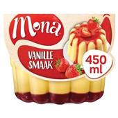 Mona Pudding Vanille Met Aardbeiensaus voorkant