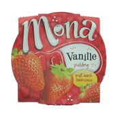 Mona Pudding Vanille Met Aardbeiensaus achterkant