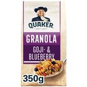 Quaker granola goji- & blueberry voorkant