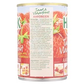 Hak Taart & Vlaaifruit Aardbeien achterkant