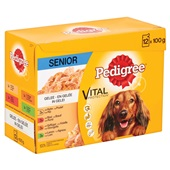 Pedigree Hondenvoer Senior In Gelei achterkant