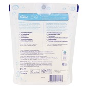 Edet vochtig toiletpapier pure pouchverpakking achterkant