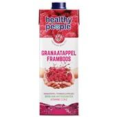 Healthy People Vruchtensap Framboos-Granaatappel voorkant