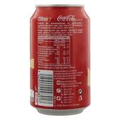 Coca Cola vanille blik 33 cl achterkant
