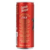 Captain Morgan Rum Cola achterkant