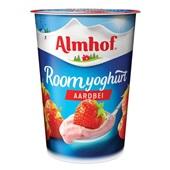 Almhof Roomyoghurt Aardbei voorkant