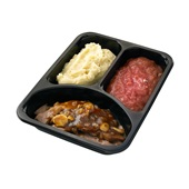 Culivers (48) Hollands pannetje van varkensvlees met rabarbercompote en aardappelpuree achterkant