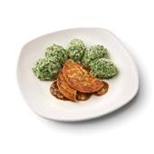 Culivers (70) groenteburger met peterseliesaus-uitjes en spinaziestamppot voorkant