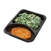Culivers (70) groenteburger met peterseliesaus-uitjes en spinaziestamppot achterkant