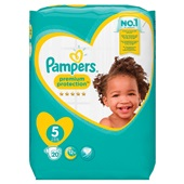 Pampers premium protection luiers junior 5 carry pack voorkant