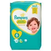 Pampers premium protection luiers XL 6 carry pack voorkant
