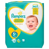 Pampers premium protection  luiers junior 5+ carry pack voorkant