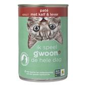 Gwoon Kattenvoer paté met kalf en lever voorkant