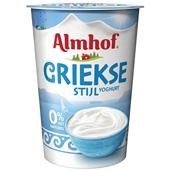 Almhof yoghurt Griekse stijl 0% voorkant