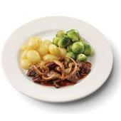 Culivers (81) Limburgse stoofschotel, spruitjes en gekookte krieltjes zoutarm voorkant