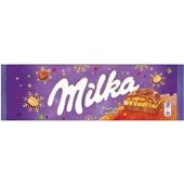 Milka chocolade Peanut Caramel voorkant