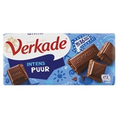 Verkade chocoladereep Intens Puur voorkant