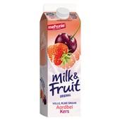 Melkunie Milk & Fruit Aardbei kers achterkant