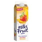 Melkunie Milk & Fruit Aardbei banaan achterkant