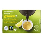 Gwoon thee 1-kops groene thee citroen voorkant