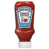 Heinz tomato ketchup 50% minder suiker & 50% minder zout voorkant