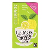 Clipper thee lemon green tea voorkant