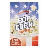 American Popcorn Zout 3-Pak voorkant