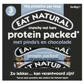 Eat Natural protein packed reep pinda's en chocolade voorkant