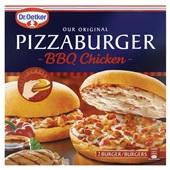 Dr. Oetker Pizzaburger BBQ chicken voorkant