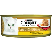 Gourmet gold hartig torentje kattenvoer met kip en wortel voorkant