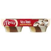 Mona Mona trio vla karamel, chocolade en slagroom voorkant