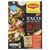 Maggi taco Zuid-Afrikaanse braai voorkant
