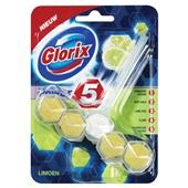 Glorix power 5 toiletblokken lemon voorkant