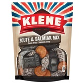 Klene drop zoute en salmiak mix voorkant