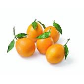 handsinaasappels met blad voorkant