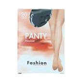Foot-Leg panty mousse zwart maat 44-48, 20 denier voorkant