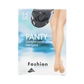 Foot-Leg panty lichtglanzend zwart maat 36-40, 15 denier voorkant