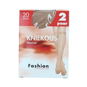 Foot-Leg kniekousen mousse wineblush maat 39-42, 20 denier voorkant