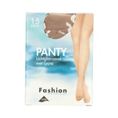 Fashion panty lichtglanzend teint maat 36-40, 15 denier voorkant