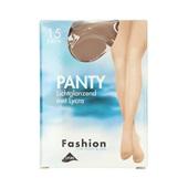 Fashion panty lichtglanzend teint maat 44-48, 15 denier voorkant