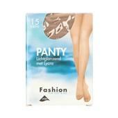 Fashion panty lichtglanzend teint maat 48-52, 15 denier voorkant
