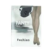 Fashion panty opaque zwart maat 40-44, 40 denier voorkant