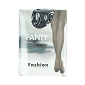 Fashion panty opaque zwart maat 44-48, 40 denier voorkant