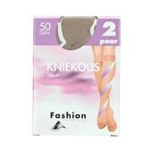 Fashion kniekousen steun skyhaze maat 39-42, 50 denier voorkant