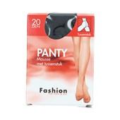 Fashion panty mousse zwart met tussenstuk maat 48-52, 20 denier voorkant