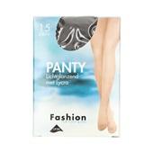 Fashion panty lichtglanzend grafiet maat 44-48, 15 denier voorkant