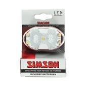 Simson Voorlicht 5xLed wit incl. houder en batterijen voorkant