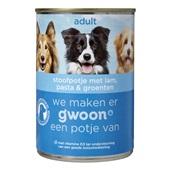 Gwoon adult hondenvoer stoofpotje met lam, pasta en groenten voorkant