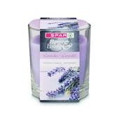Spar Kaars Lavendel in glas voorkant